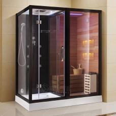Sauna su hidromasažine dušo kabina AMO-1752 180x110 dešinė