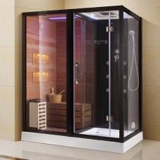 Sauna su hidromasažine dušo kabina AMO-1752 180x110 Kairė