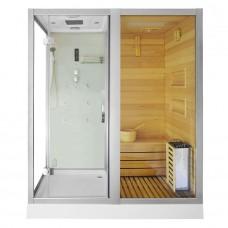 Sauna su hidromasažine dušo kabina AMO-1752 W 180x110 dešinė
