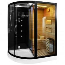 Sauna su hidromasažine dušo kabina MO-1751 180X110X223cm Dešinė