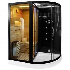 Sauna su hidromasažine dušo kabina MO-1751 180X110X223cm Kairė