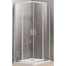 Dušo kabina A1142 80x100 pilka be pado (tik stiklai)