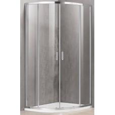 Dušo kabina A2142 100x100 pilka be pado (tik stiklai)