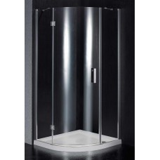 Dušo kabina BEF10 pilka be pado (tik stiklai)
