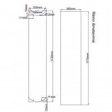 Dušo kabinos durys lenktos 335x1730 fabric, stiklas rėme (stiklas 350x1745 mm) 6.15.
