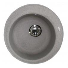 Granitinė plautuvė ROUND 2 grey spot su sifonu
