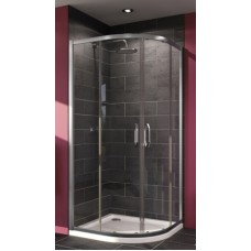 Kampas dušo X1 90x90cm, sidabras/persišviečiantis stiklas