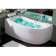 Masažinė vonia B1680 kairinė su oro ir hidromasažu ir vandens pašildymo funkcija 160cm