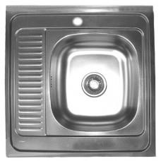 Nerūdijančio plieno plautuvė 273 kairė uždedama su sifonu