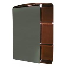 Pakabinama spintelė su veidrodžiu M20 ruda