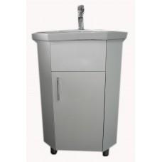 Vonios kambario kampinė spintelė su praustuvu SV015