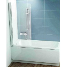 Vonios sienelė CVS1-80R blizgus+stiklas Transparent