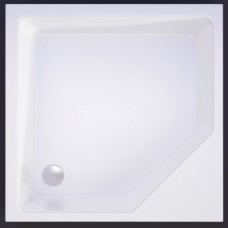 Akmens masės kvadratinis dušo padėklas VISPOOL KD-90