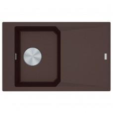 Akmens masės plautuvė Franke FX FXG 611-78, Chocolate