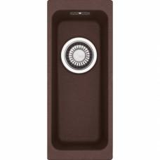 Akmens masės plautuvė Franke Kubus KBG 110-16, užkemšamas ventilis, Chocolate