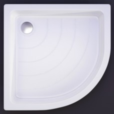 Akmens masės pusapvalis dušo padėklas VISPOOL R-80 (r500)