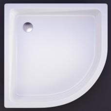 Akmens masės pusapvalis dušo padėklas VISPOOL R-90 (r550)