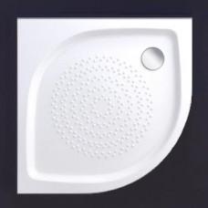 Akmens masės pusapvalis dušo padėklas Vispool RR-90, R550