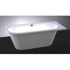 Akmens masės vonia VISPOOL EVENTO 175x75 apvalinta kairė pusė balta