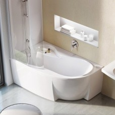 Akrilinė asimetriška vonia Ravak Rosa 95, 150x95 L