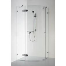 Dušo kabina Baltijos Brasta, Banga 100x100x190 skaidrus stiklas.
