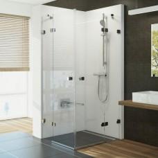 Kvadratinė dušo kabina Ravak Brilliant, BSRV4-90 chromas+stiklas Transparent