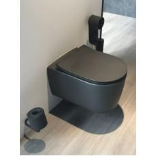 Pakabinamas WC Glacera Alfa Juodas Matinis