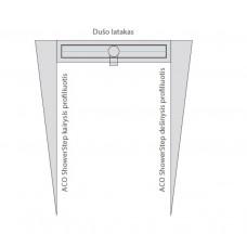 Profiliuotis ACO ShowerStep, dešininis, aukštis 12.5 mm