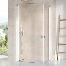 Stačiakampės dušo kabinos sienelė Ravak Chrome, CRV1-100, balta+stiklas Transparent