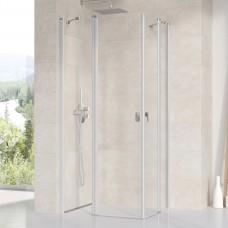 Stačiakampės dušo kabinos sienelė Ravak Chrome, CRV2-110, satinas+stiklas Transparent