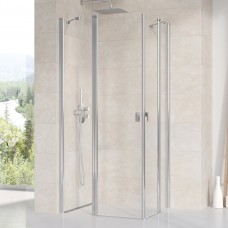 Stačiakampės dušo kabinos sienelė Ravak Chrome, CRV2-80, blizgi+stiklas Transparent