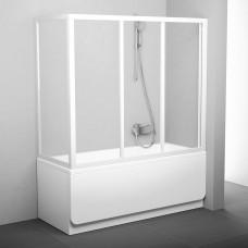 Stacionari vonios sienelė Ravak, APSV-75, balta+stiklas Transparent