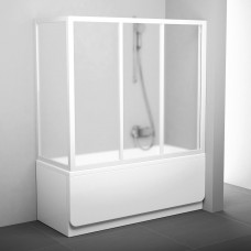 Stacionari vonios sienelė Ravak, APSV-80, balta+stiklas Grape