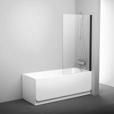 Stacionari vonios sienelė Ravak Pivot, PVS1 80 juodas+stiklas Transparent
