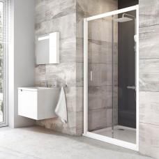 Stumdomos dušo durys Ravak Blix, BLDP2-110, balta+stiklas Transparent