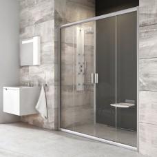 Stumdomos dušo durys Ravak Blix, BLDP4-140, satinas+stiklas Transparent