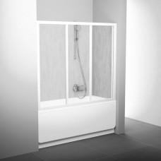 Stumdomos vonios durys Ravak, AVDP3-120, balta+plastikas Rain