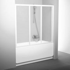 Stumdomos vonios durys Ravak, AVDP3-120, balta+stiklas Grape