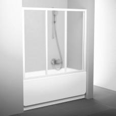 Stumdomos vonios durys Ravak, AVDP3-150, balta+stiklas Grape