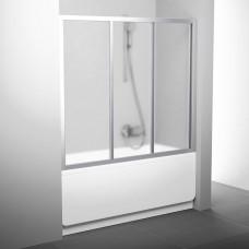 Stumdomos vonios durys Ravak, AVDP3-150, satinas+stiklas Grape