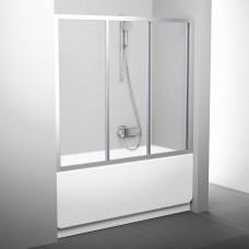 Stumdomos vonios durys Ravak, AVDP3-150, satinas+stiklas Transparent