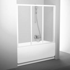 Stumdomos vonios durys Ravak, AVDP3-170, balta+stiklas Transparent
