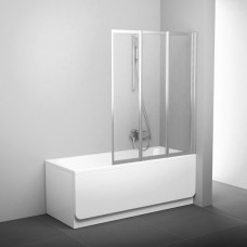Sulankstoma vonios sienelė Ravak, VS3 100, satinas +stiklas Transparent