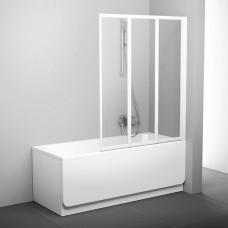 Sulankstoma vonios sienelė Ravak, VS3 115, balta+stiklas Transparent