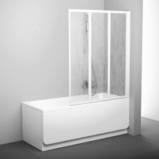 Sulankstoma vonios sienelė Ravak, VS3 130, balta+plastikas Rain