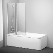 Varstoma vonios sienelė Ravak 10°, 10CVS2-100 L blizgi+stiklas Transparent