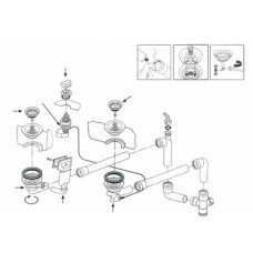Ventilis FRANKE plautuvės LIX 651, MOX 651, MOX 660, EFX 651-78, d 3''1/2, ekscentrinis