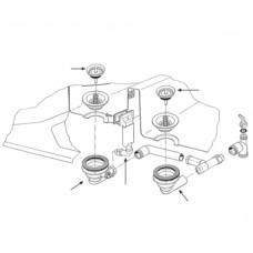Ventilis FRANKE plautuvės MOX 651, d 3''1/2, užkemšamas
