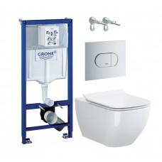 WC rėmo komplektas Grohe Rapid SL, su Opoczno Metropolitan Clean-On ir soft-close dangčiu