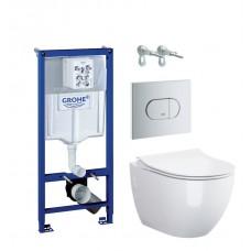 WC rėmo komplektas Grohe Rapid SL, su Opoczno Urban Harmony Clean-On ir Slim soft-close dangčiu